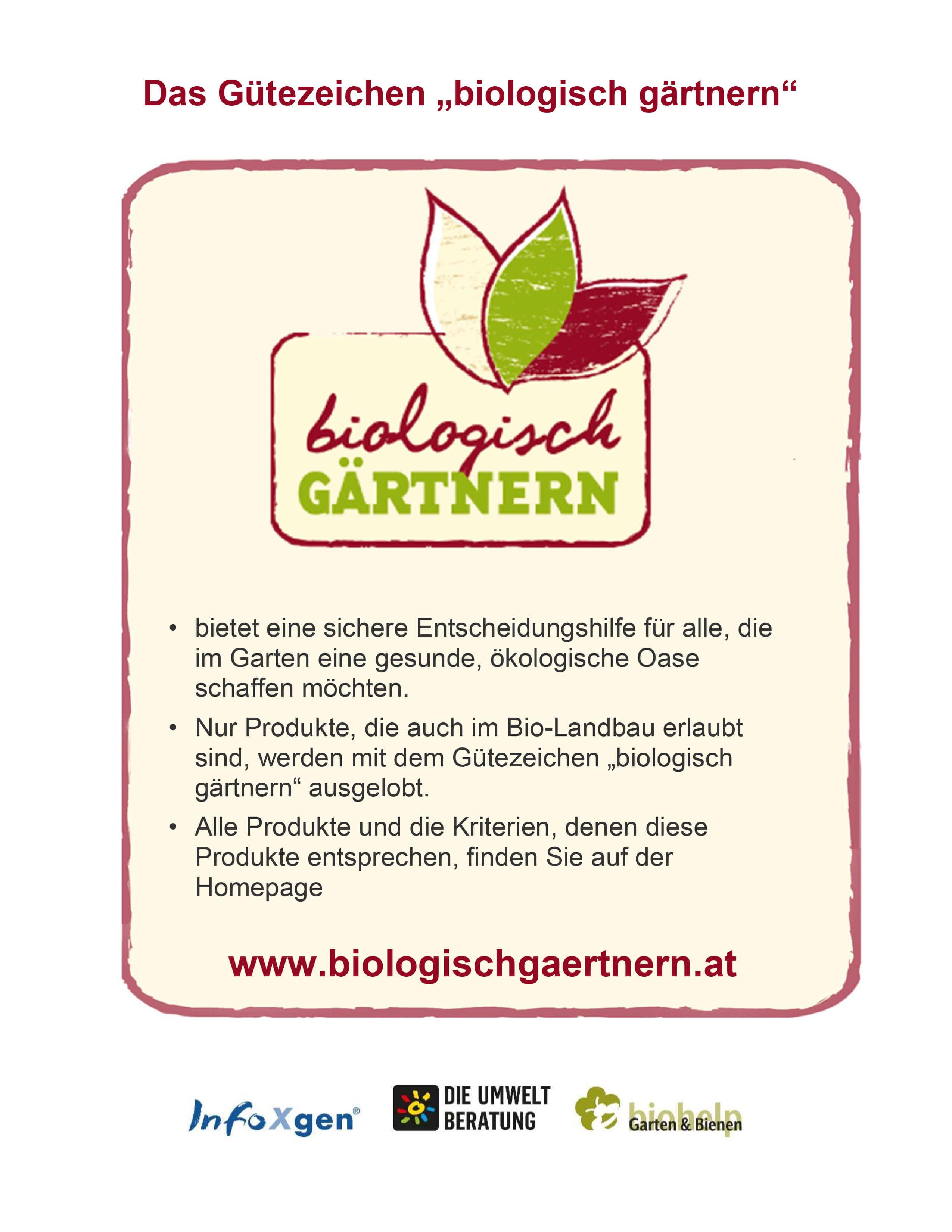 Poster: Biologisch Gärtnern
