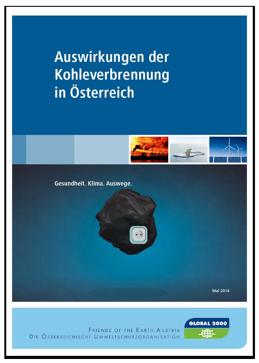 Studie: Auswirkungen von Kohle in Österreich (Cover)