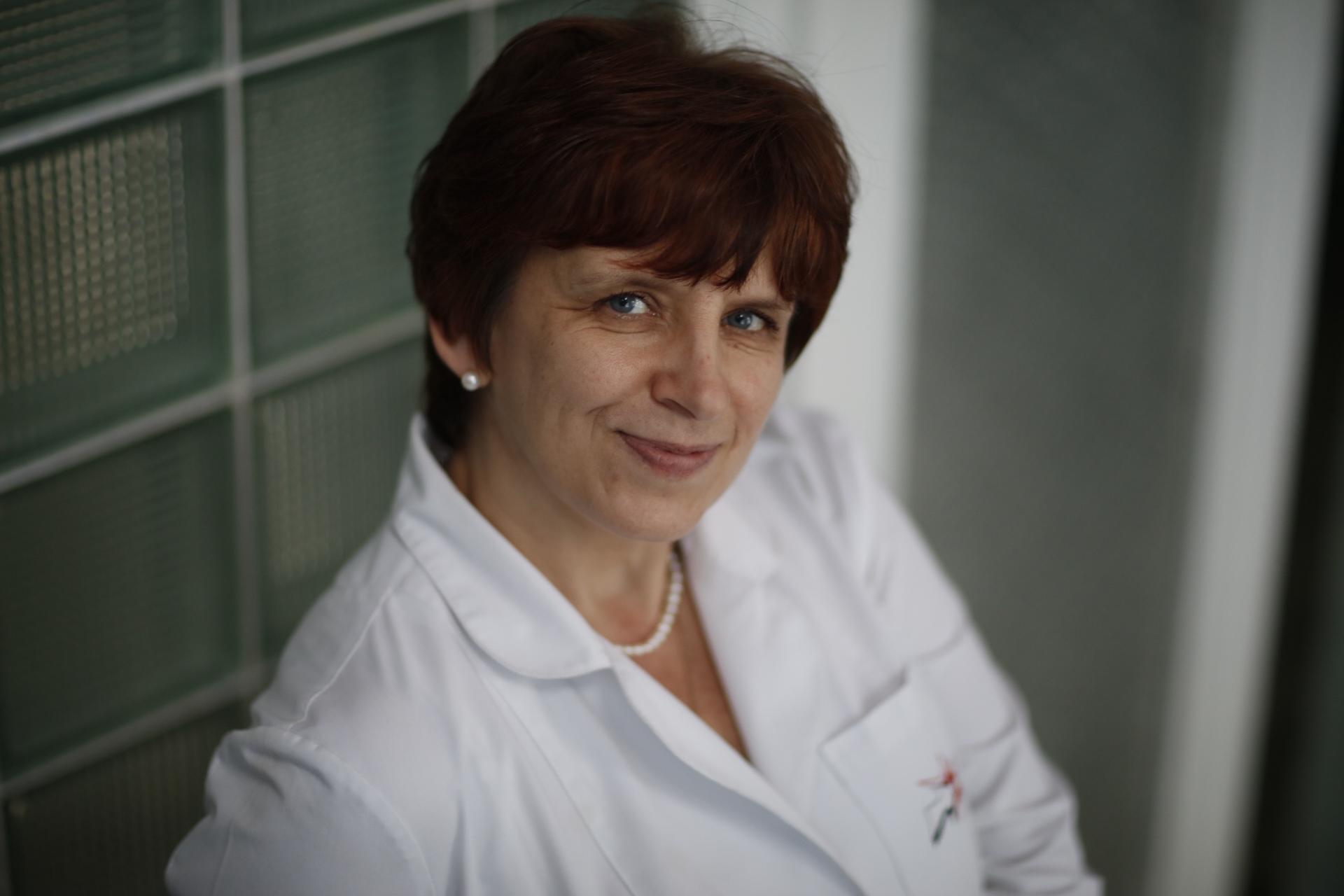 Ludmilla Marenych, Ärztin auf der Leukämistation in Kharkov