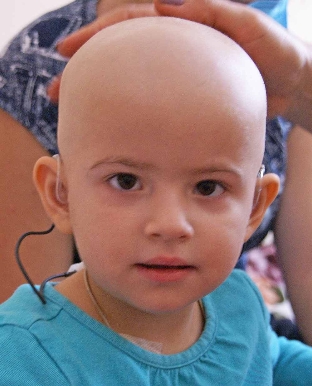Pörträtaufnahme von einem Kind im Kinderkrankenhaus Nr. 16 in Kharkov