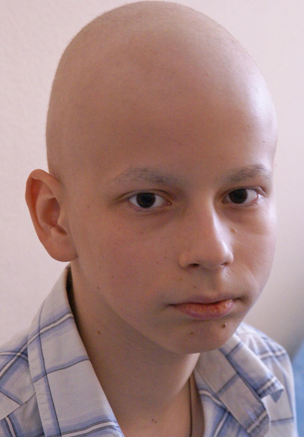 Patient im Kinderkrankenhaus Nr. 16 in Kharkov