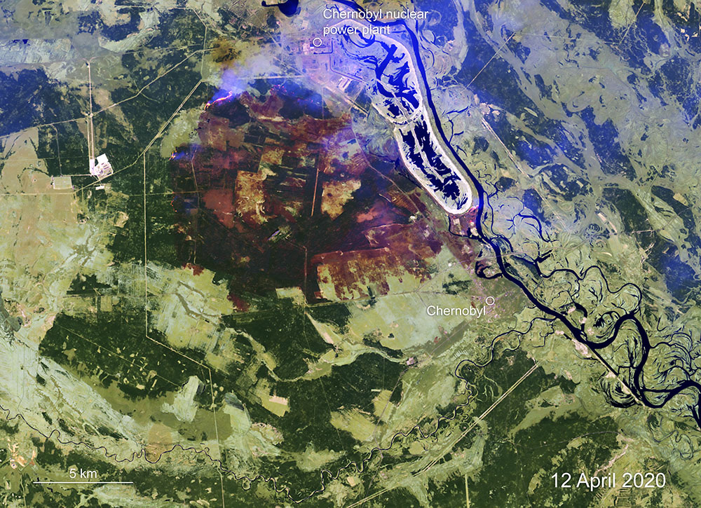 Sattelitenbild von Copernicus Sentinel (c) contains modified Copernicus Sentinel data (2020), processed by ESA