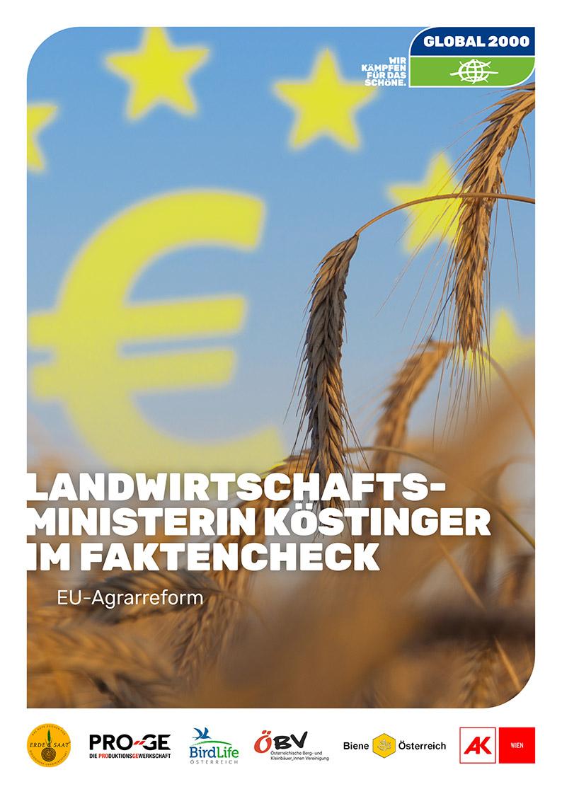 Cover: EU-Agrarreform - Landwirtschaftsministerin Köstinger im Faktencheck