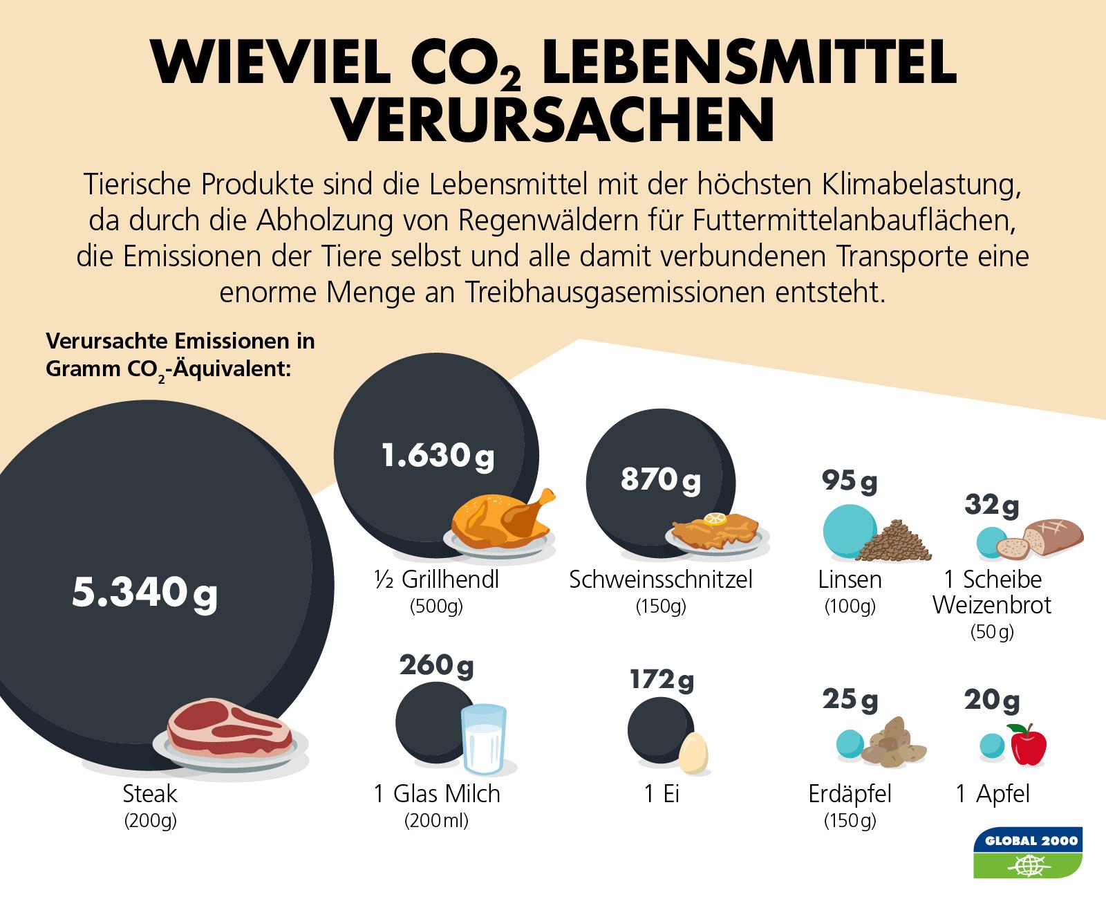 CO2-Verbrauch für Lebensmittel