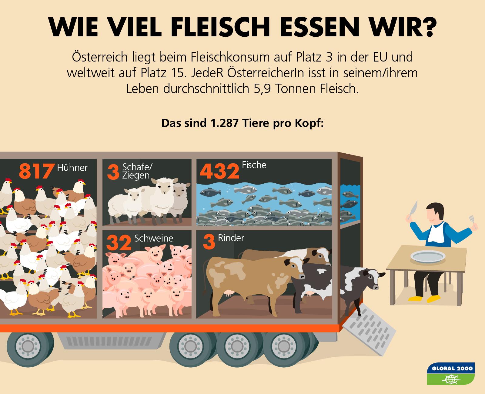 Fleischkonsum in Österreich