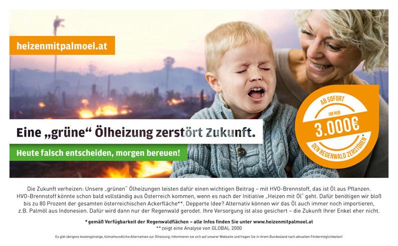 """Eine ehrliche Zeitungsanzeige für die """"grüne Ölheizung müsste eigentlich so aussehen"""