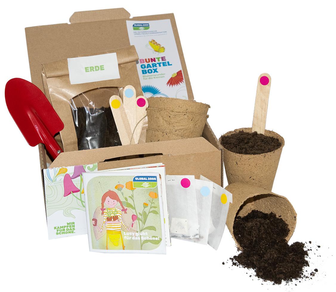 Bunte Gartel Box für Kinder