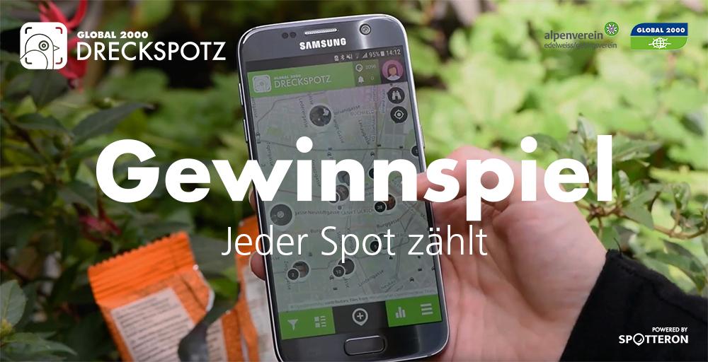 GLOBAL 2000 DreckSpotz App Gewinnspiel