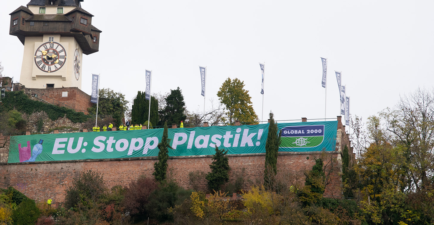 Plastikaktion in Graz
