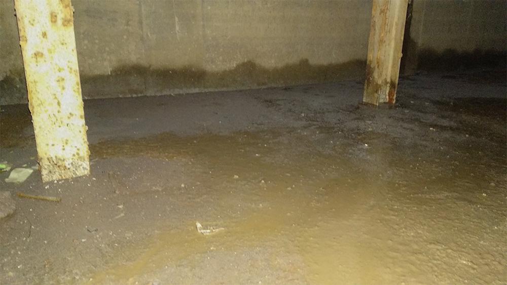 Mochovce 3: Wasser unterhalb des Kabelkanals