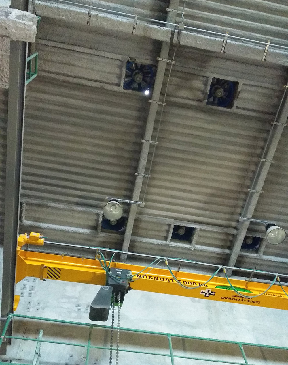 Mochovce 3: In der Decke des Gebäudes mit dem Notfall-Diesel-Generator befindet sich ein Loch