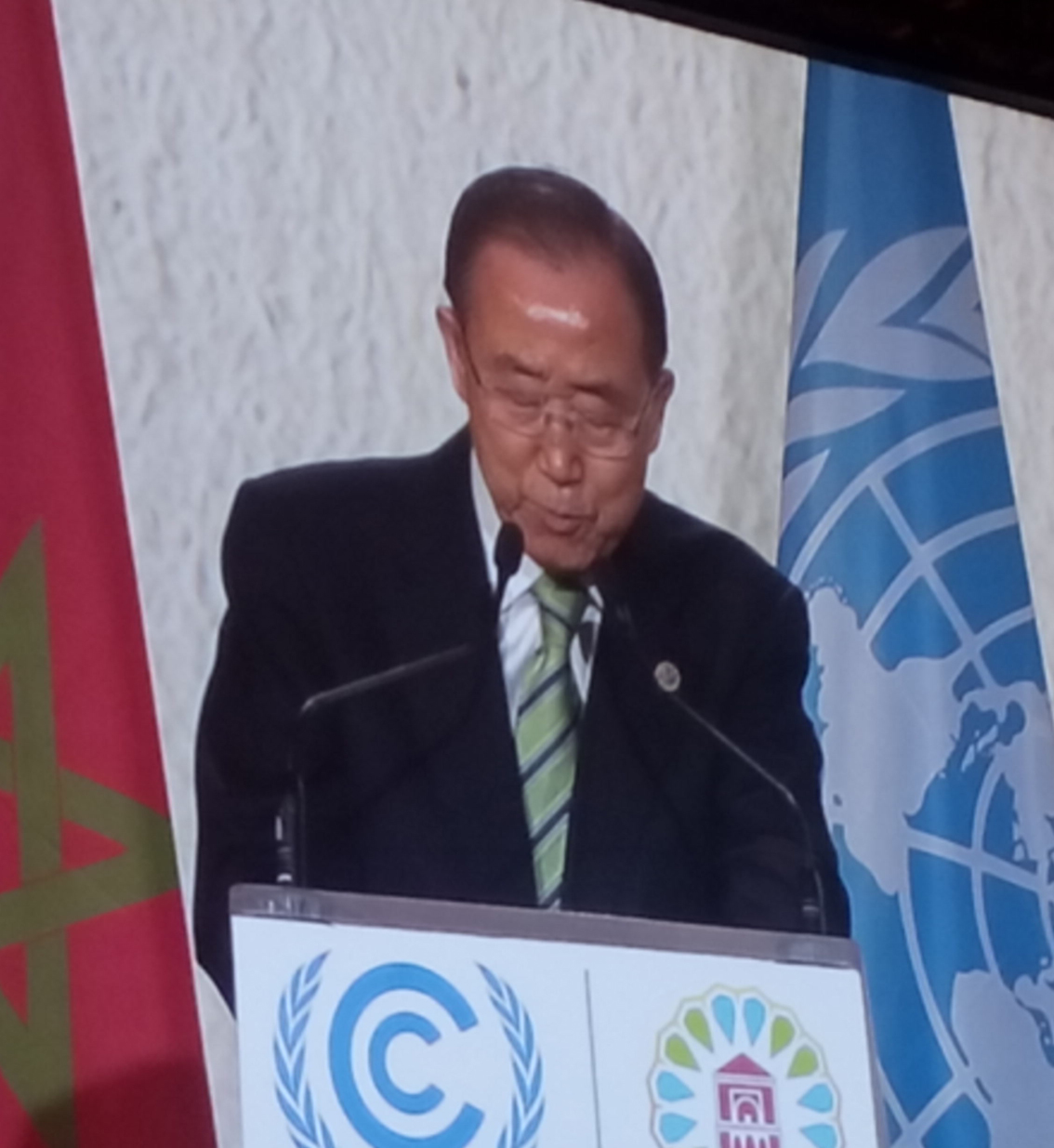 Ban Ki Moon bei der Klimakonferenz in Marrakesch