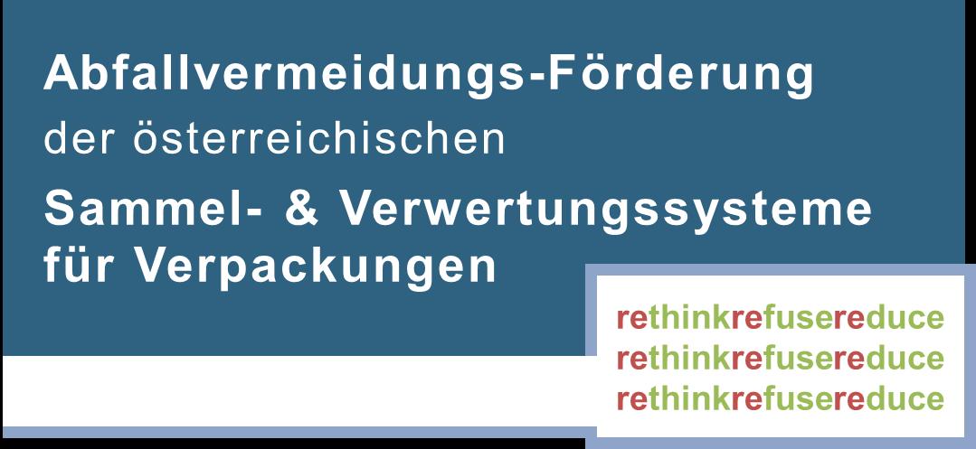 Logo Abfallvermeidungs-Förderung der österreichischen Sammel- & Verwertungssysteme für Verpackungen