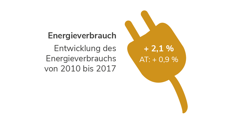 Niederösterreich: Entwicklung des Energieverbrauchs