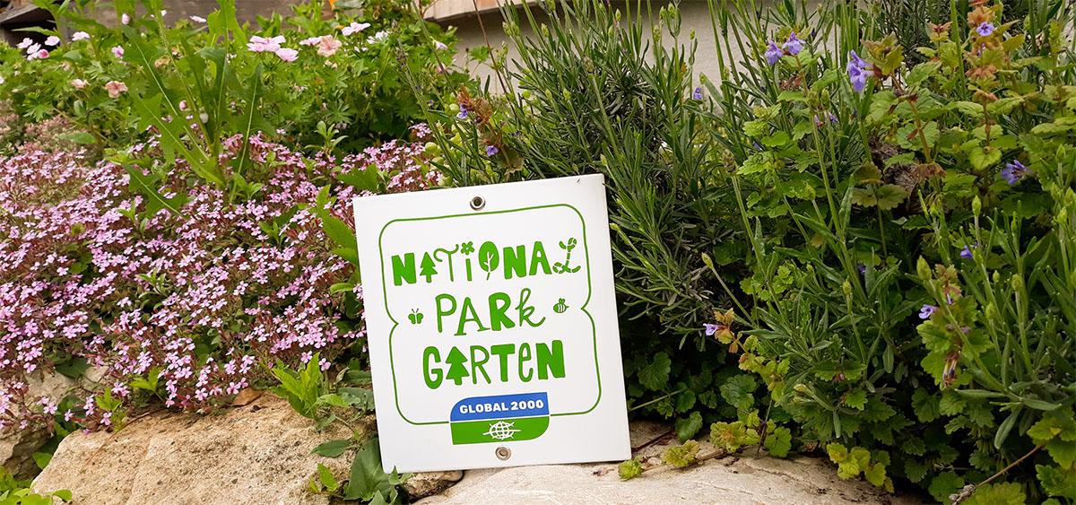 Nationalpark Garten Plakette
