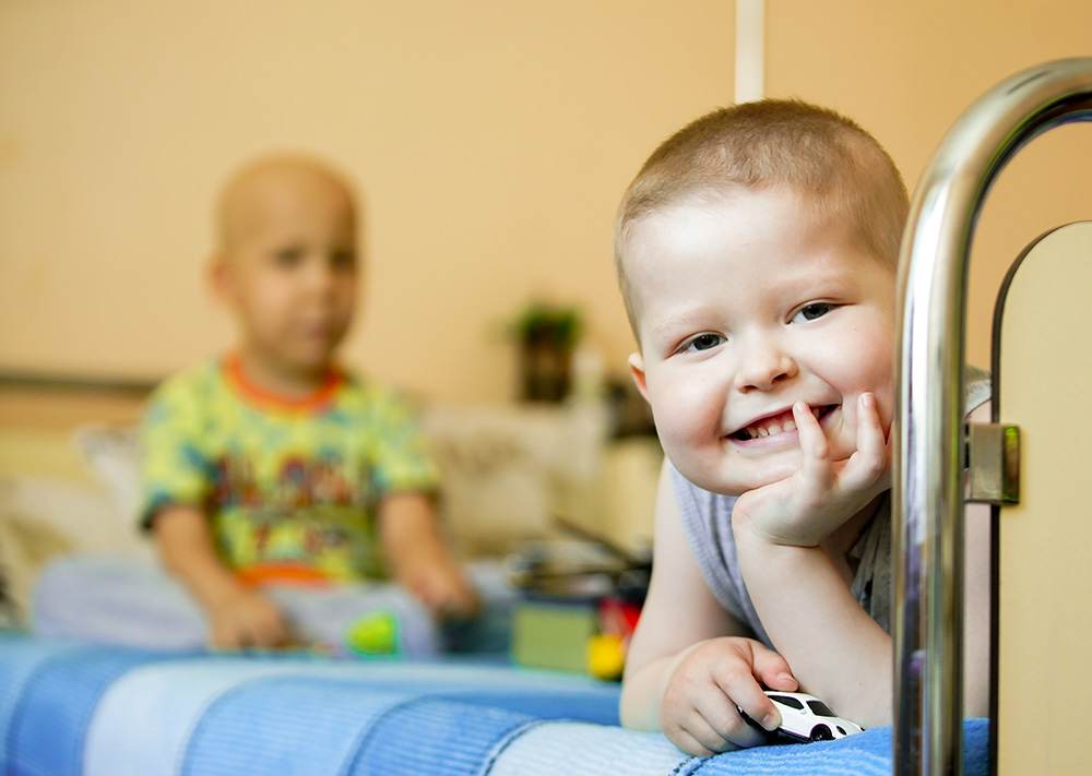 Tschernobyl-Kinder im Kinderkrankenhaus Kharkov, Ukraine