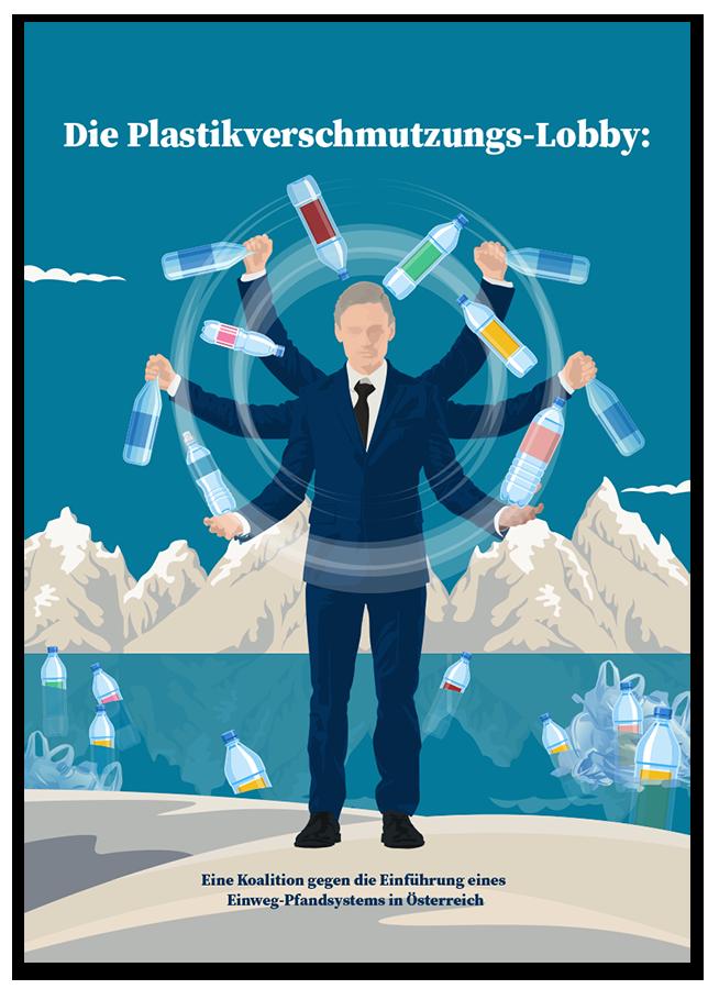 Report Cover: Die Plastikverschmutzer-Lobby