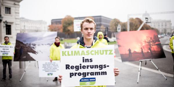 Klimaaktion Neue Regierung, Foto: Christopher Glanzl