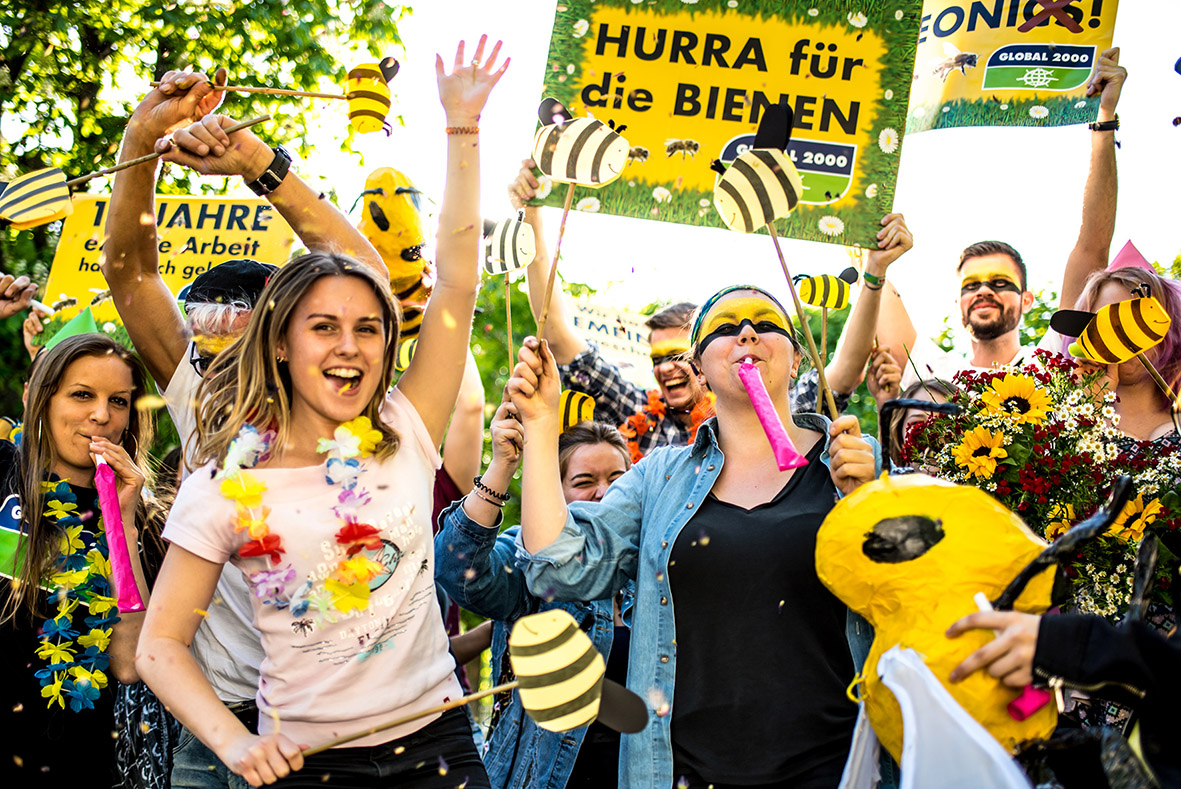GLOBAL 2000 Aktive Jubeln zum Neonics-Verbot