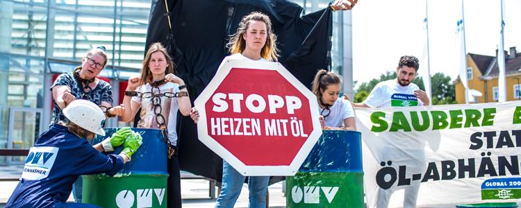 OMV-Aktion Stopp heizen mit Öl