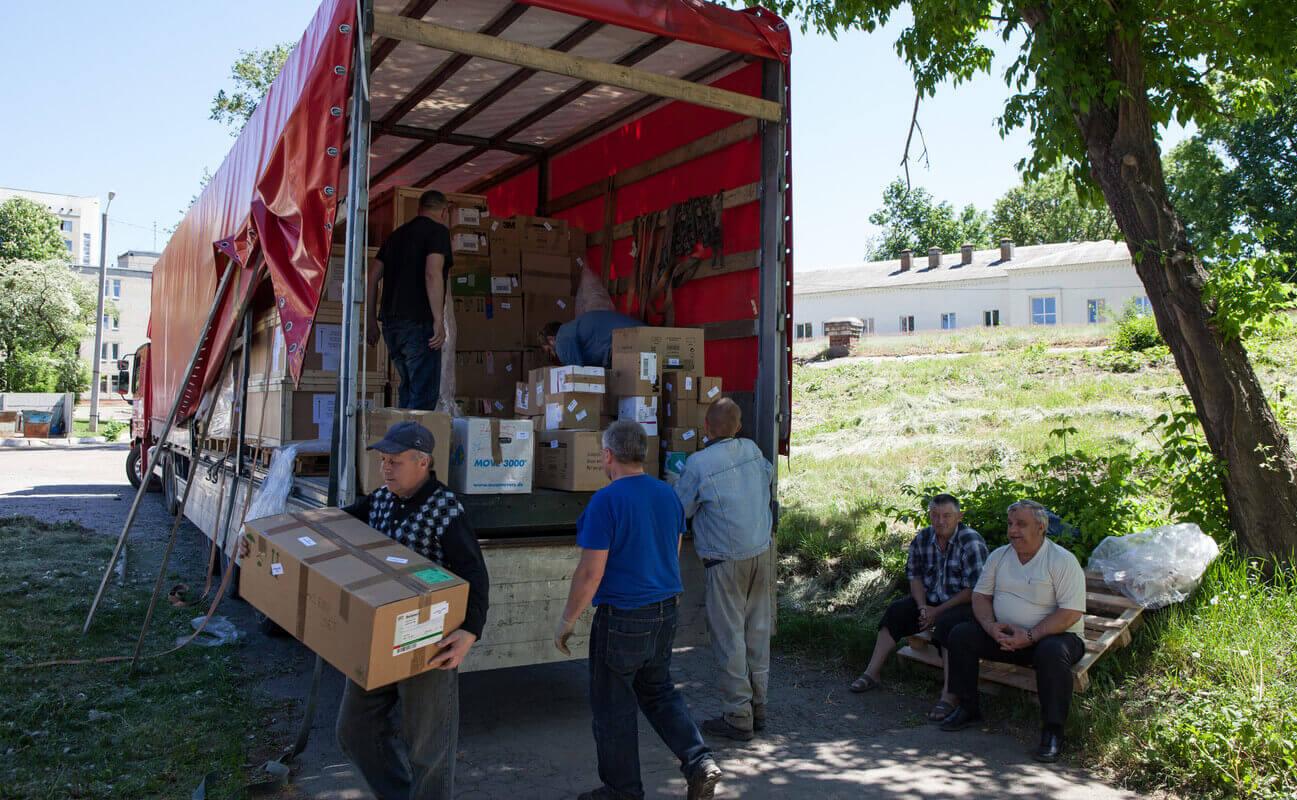 Ukraine Hilfslieferung