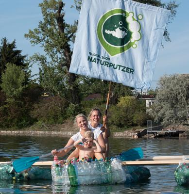 Müllboot Alte Donau