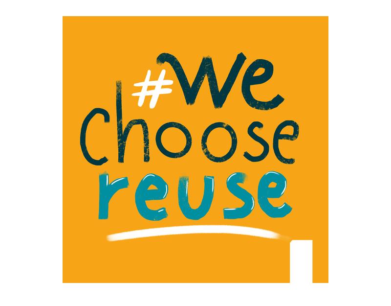#WeChooseReuse Kampagnen Logo