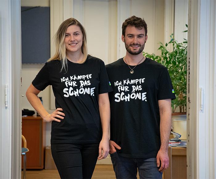 """T-Shirts """"Ich kämpfe für das Schöne"""""""