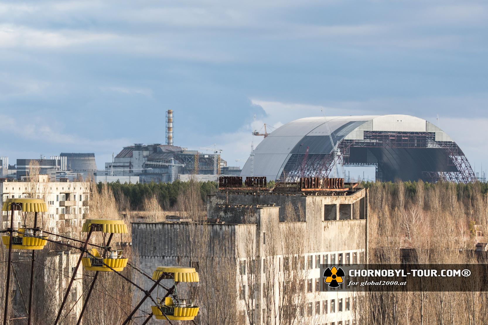 Der neue Sarkophag für die Reaktorruine von Tschernobyl