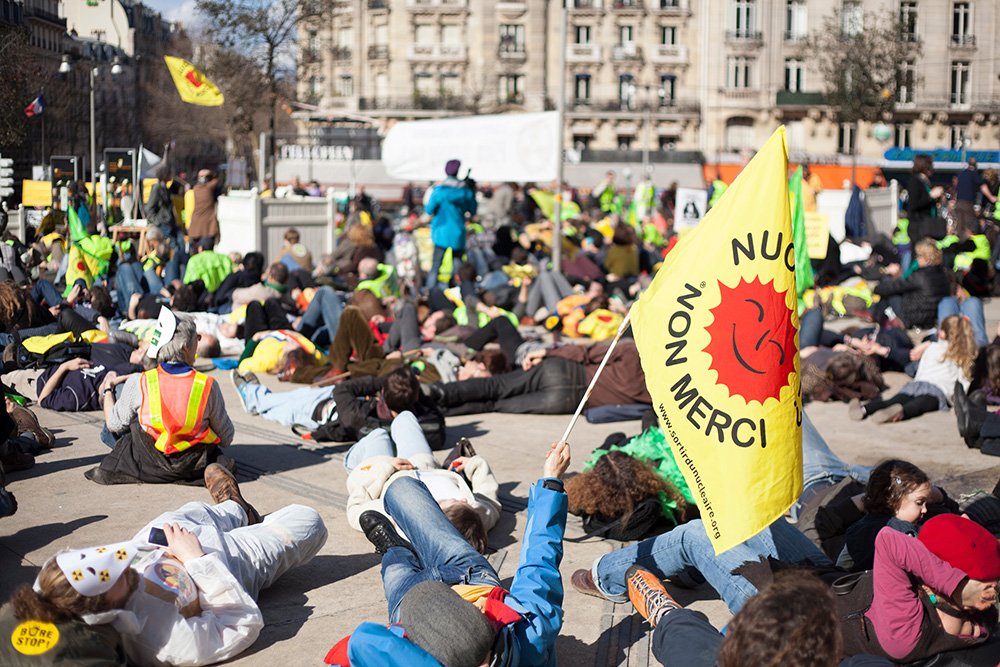 Protest gegen Atomkraft in Paris