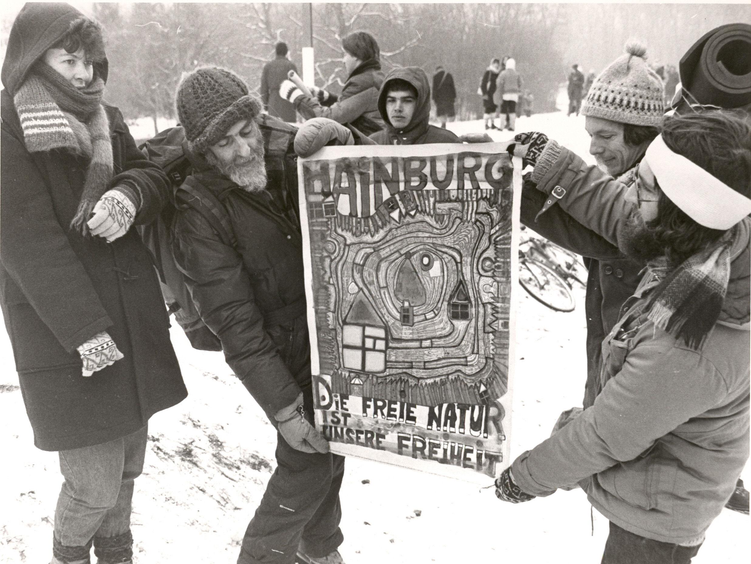 Proteste in der Hainburger Au
