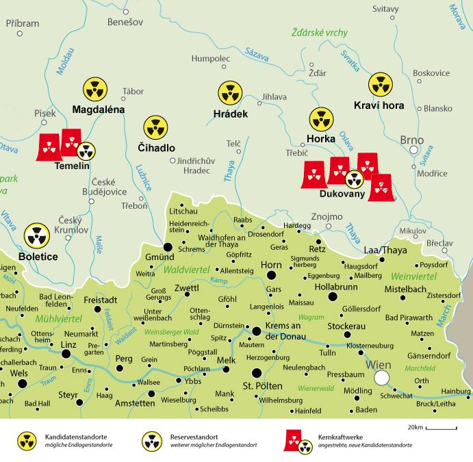 Atommüll-Endlager Konzept Tschechien