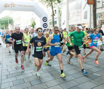 Läufer beim GLOBAL 2000 Fairness Run in Wien